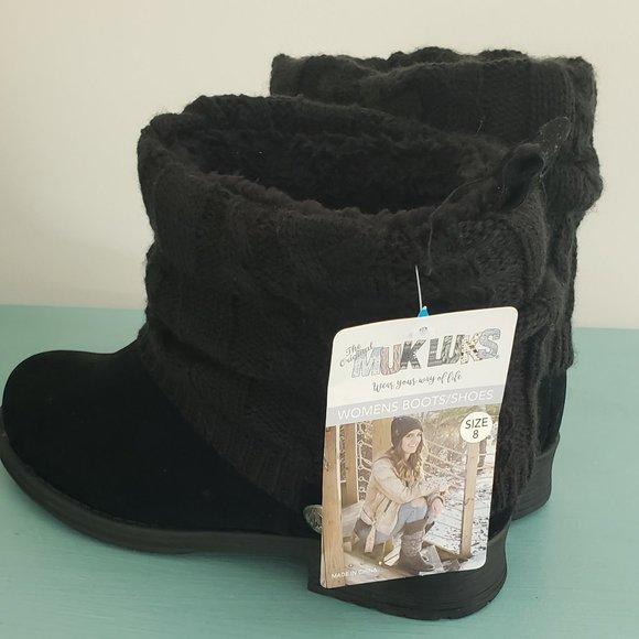 Muk Luks Boots Black